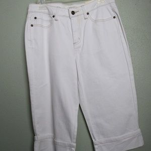 New St Johns Bay Faded Cuffed Shorts Stretch 10P